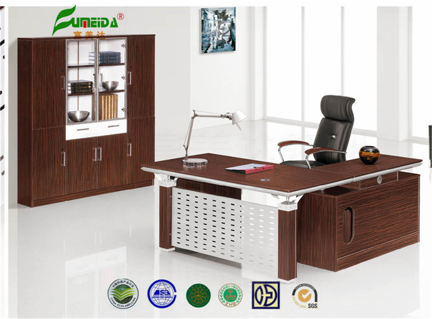 MFC High End Metal Frame Office Desk