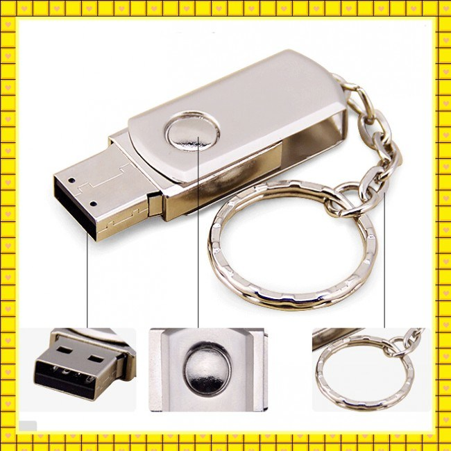 Custom Swivel USB Pen Drive 4GB 16GB 1GB USB Flash Drive (GC-001)