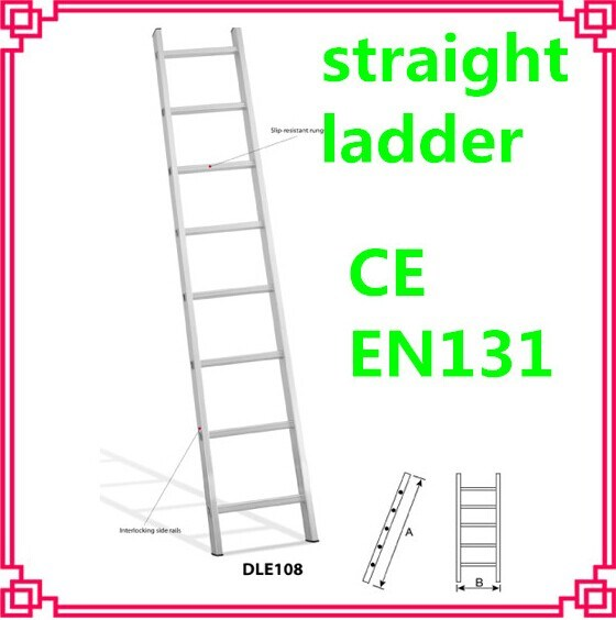 Aluminum Straight Ladder/Household Step Loft Ladder