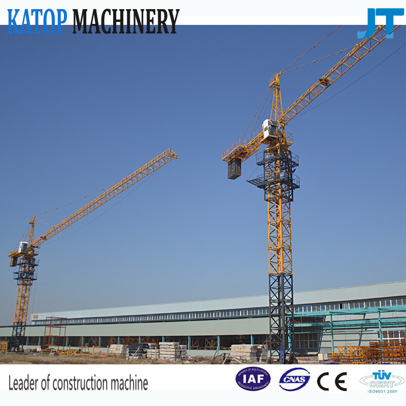 Qtz63 Series Tower Crane with 6t Load and 50m Boom Length From China Supplier