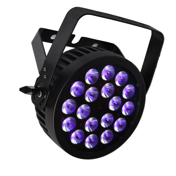 18X12W RGBWA UV 6in1 LED PAR Can with Powercon, Road Case for Stage Lighting, Event, Disco