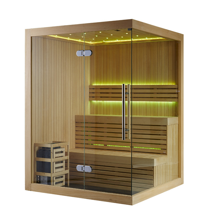 Rectangle 2-3 People Capacity Sauna Room with Finland Sauna Stove (M-6031)