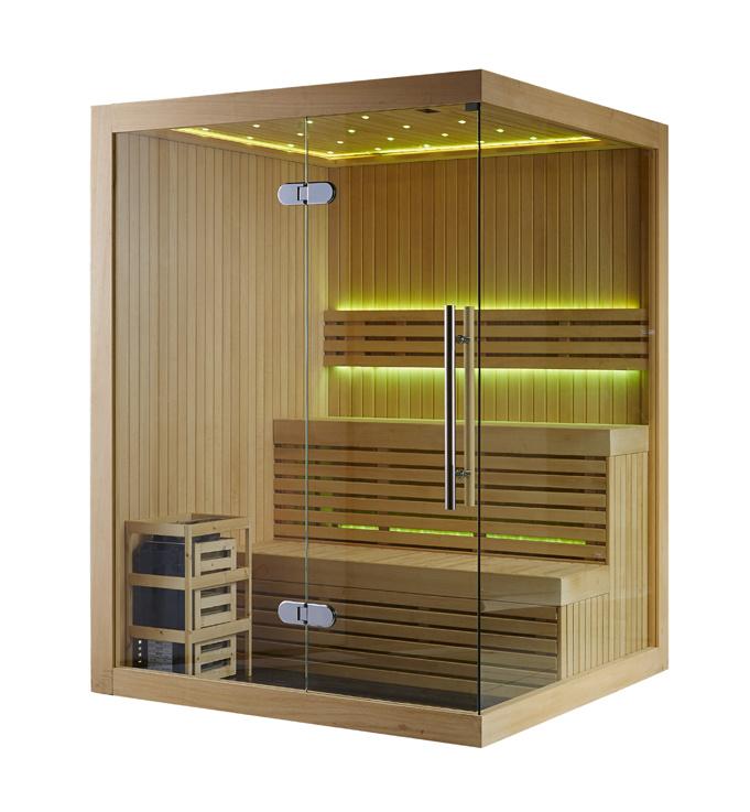 Rectangle Sauna Room with Finland Sauna Stove