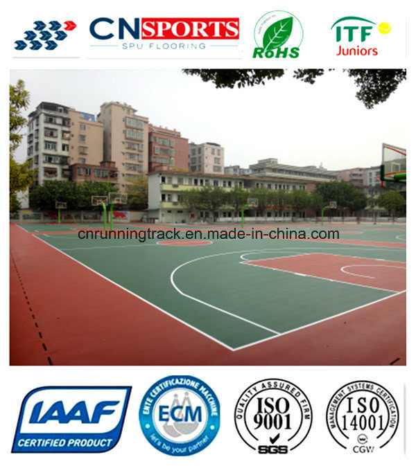 Green Material Indoor/Outdoor Basketball Court for Sport Surface