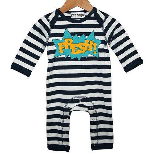 Black and White Stripes Newborn Baby Footie Pajamas