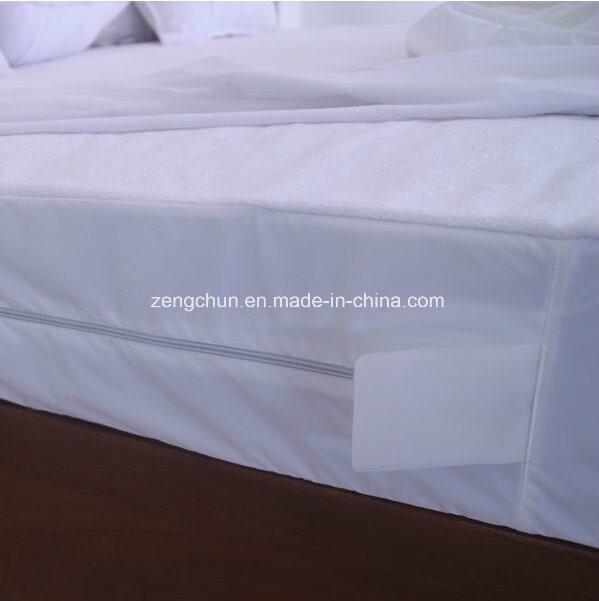 Cotton Terry Surface Bed Bug Proof Mattress Encasement Waterproof Anti Dust Mites Proof Mattress Encasememen with Zipper