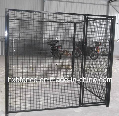 Black Color Powder or PVC Coating Outdoor Dog Kennel/Dog Cage
