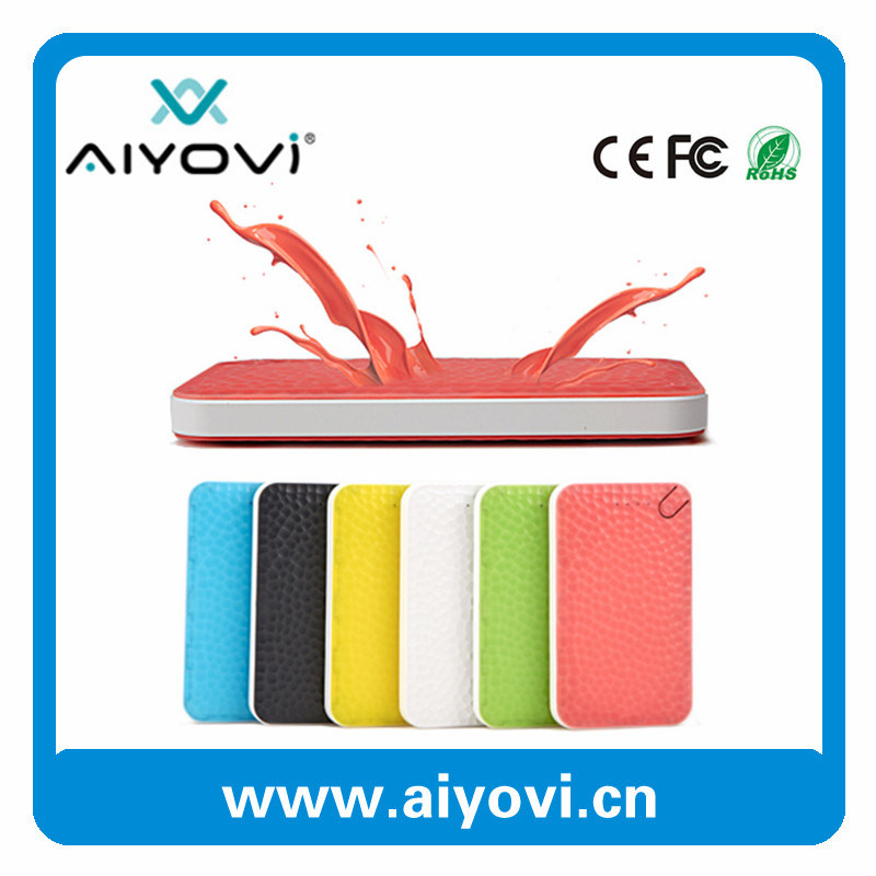 Colorful Design Design 10000 mAh 2 USB Power Bank with Patent