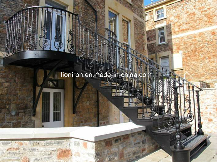 Artwork Wrought Iron Balcony Railing&Fence for Villa