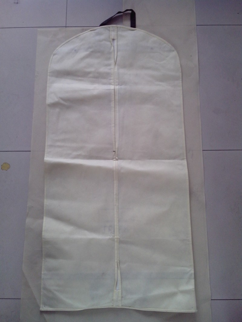Non Woven Suit Cover with Zipper, Window and Logo Print