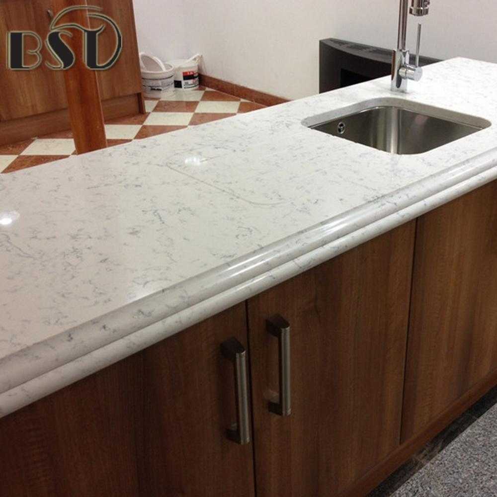 stone kitchen countertops. China Affordable Carrara White Quartz Stone Kitchen Countertop - Countertop, Countertops