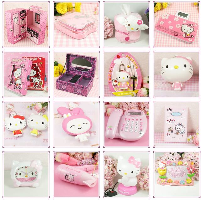 China Hello Kitty Cartoon Home Decoration Products