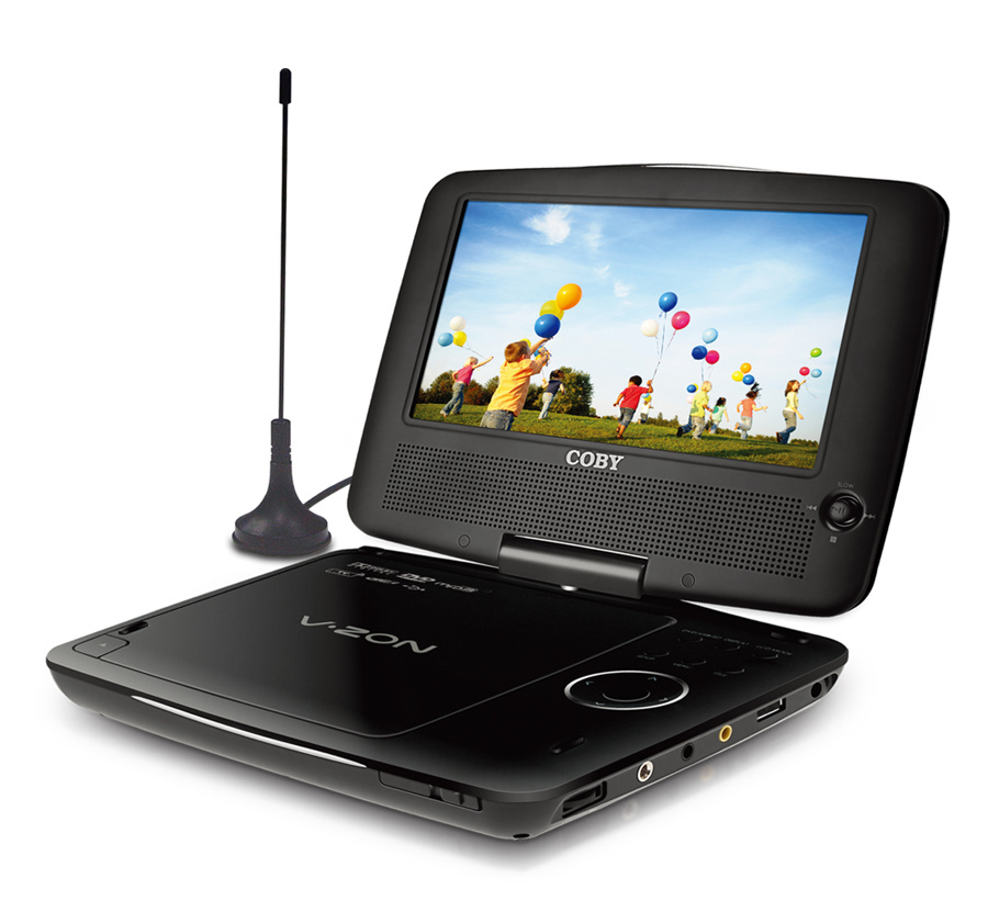 Portable DVD/CD/MP3 Player With TV Tuner, Swivel Screen (TFDVD9189 ...