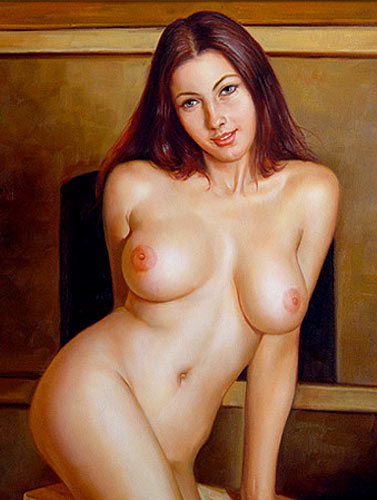 100% Handmade Oil Painting - Nude