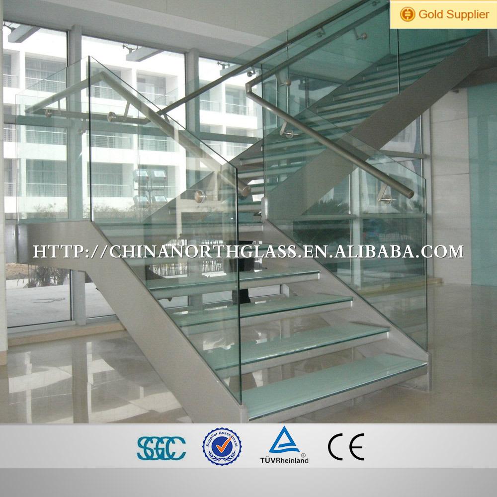 8mm+1.52mmpvb+8mm Anti Slip Laminated Glass Staircase