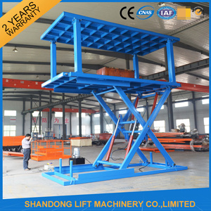 2t 7m Hydraulic Scissor Lifting Equipment Lifting Table with Ce