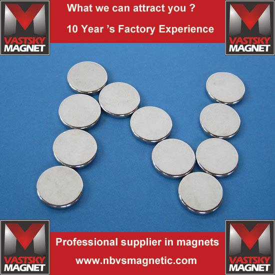 High Grade Strong Disc Rare Earth NdFeB Neodymium Magnet Wholesale