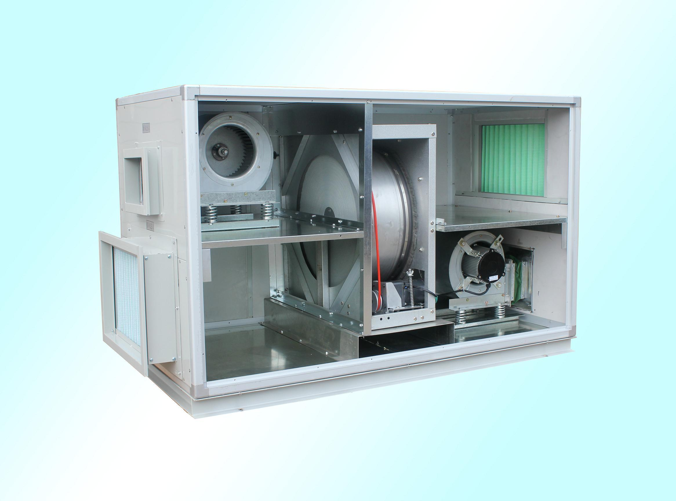 Air Handling Unit With Heat Recovery Wheel