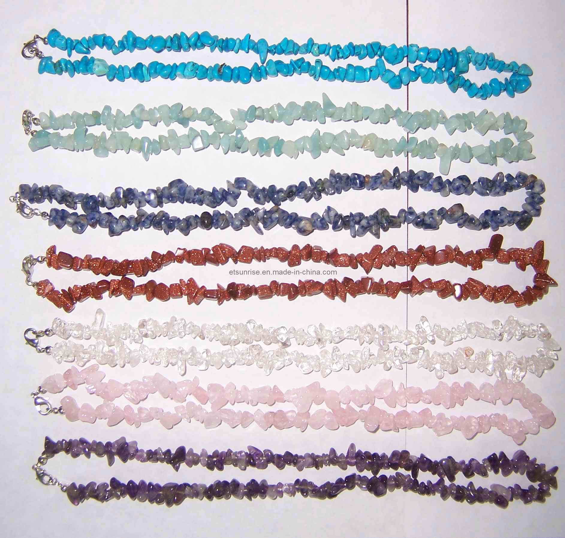 Semi Precious Stone Crystal Jewelry Fashion Necklace (ESB01313)