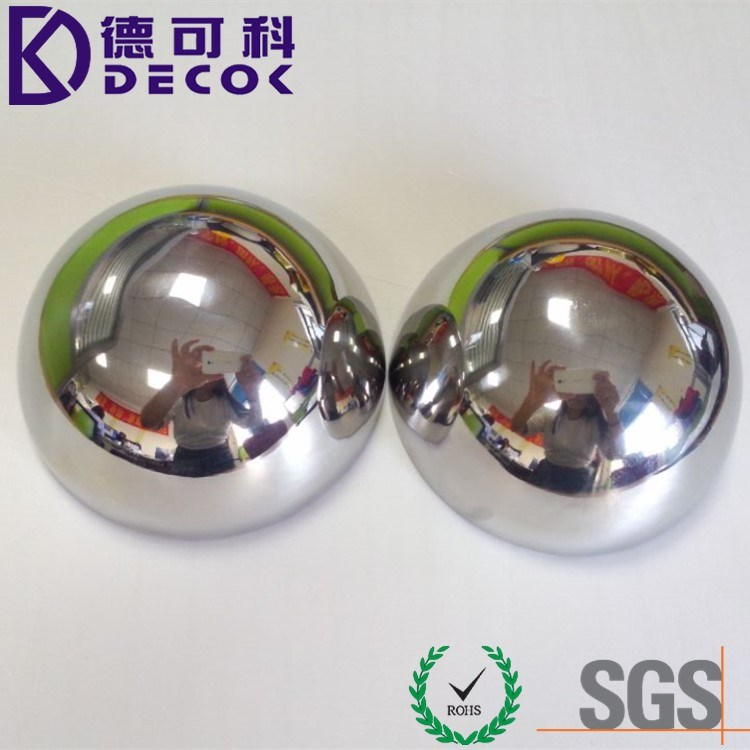 63mm 76mm Polished Stainless Steel Bath Bomb Ball Mold