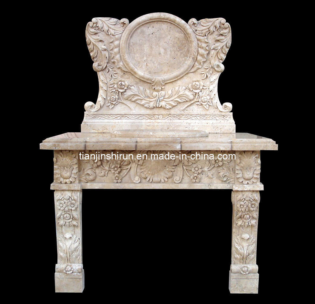 White Travertine Stone Basin (2286)