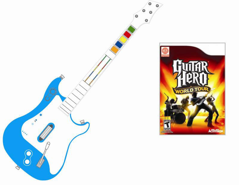 china wireless guitar hero guitar controller game accessories for wii china guitar hero. Black Bedroom Furniture Sets. Home Design Ideas