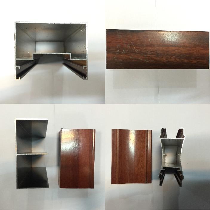 Aluminium Profile for Windows and Door Wood Grain Aluminum Profiles Anodized and Powder Coating Aluminium Profiles