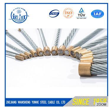 Galvanized Steel Strand Steel Wire Rope Steel Guy Wire 5/16′′ ASTM H 475 Ehs