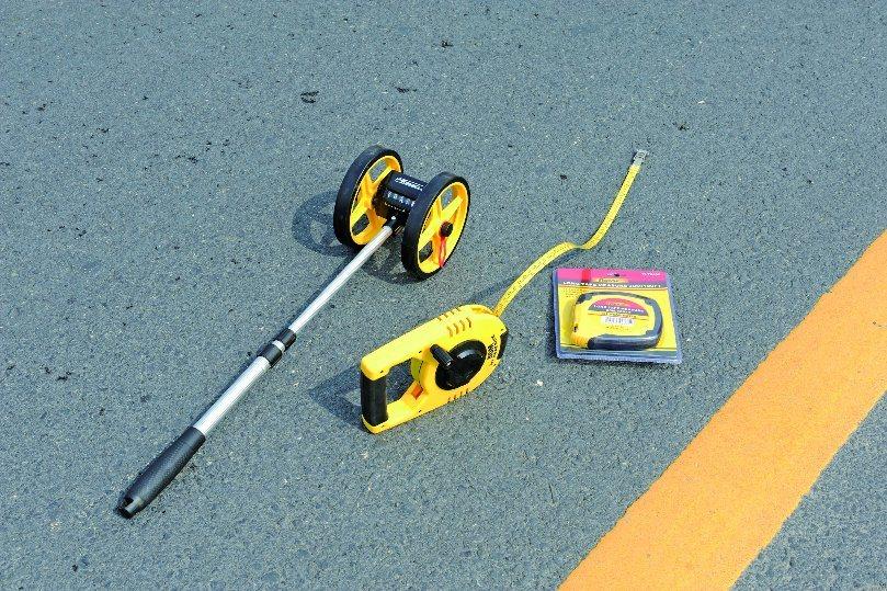 Dual Wheels Telescopic Mechanical Distance Measuring Wheel Meter Wheel