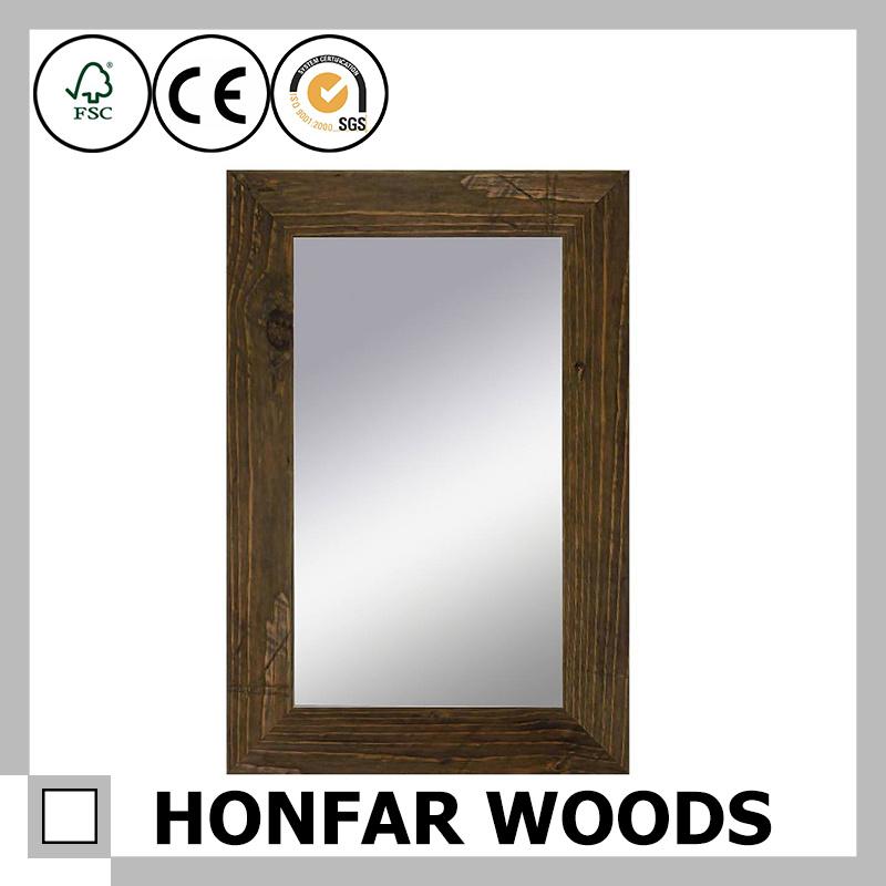 Whit Decorative Bathroom Wooden Mirror Frame for Modern Decor