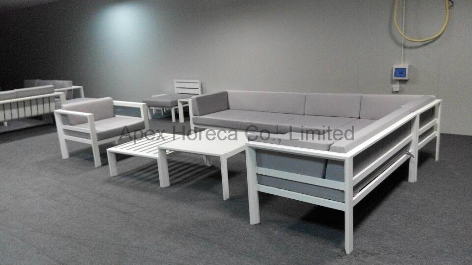 Powder coated aluminum sectional sofa set outdoor furniture lounge set
