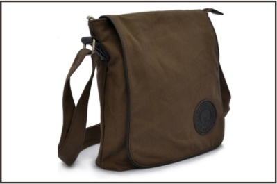 Vintage Fashion Genuine Leather Canvas Messenger Bag