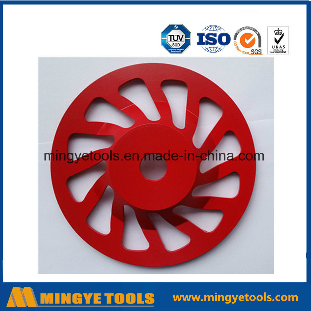 Red Diamond Cup Wheel for Grinding Stone / Marble