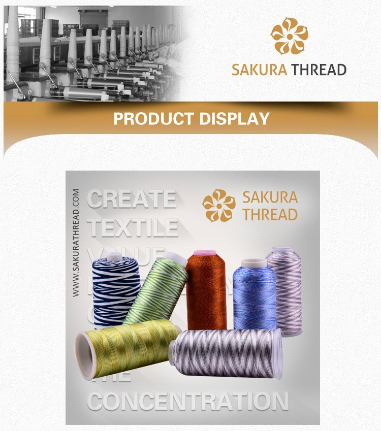 Multicolour Thread Viscose Rayon Filament Yarn