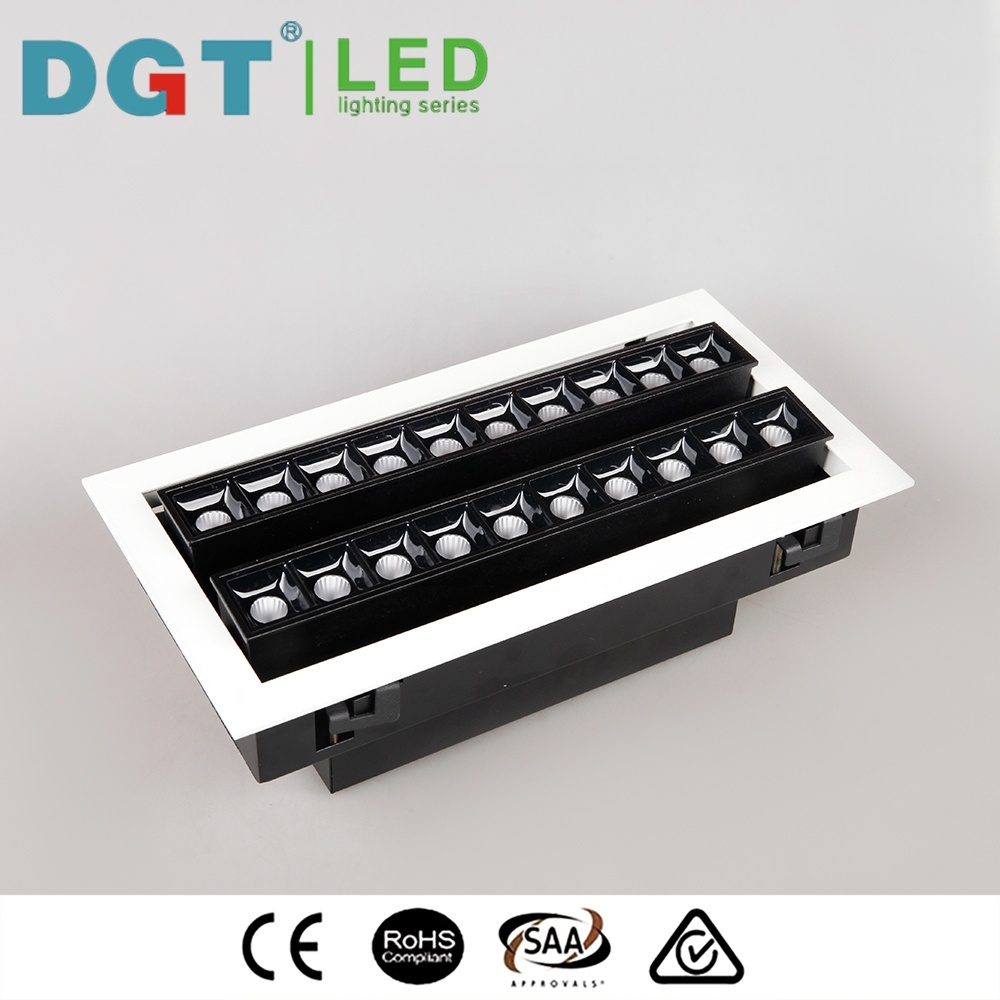 Energy Saving 2*10*2W LED Ceiling Slim Linear Downlight