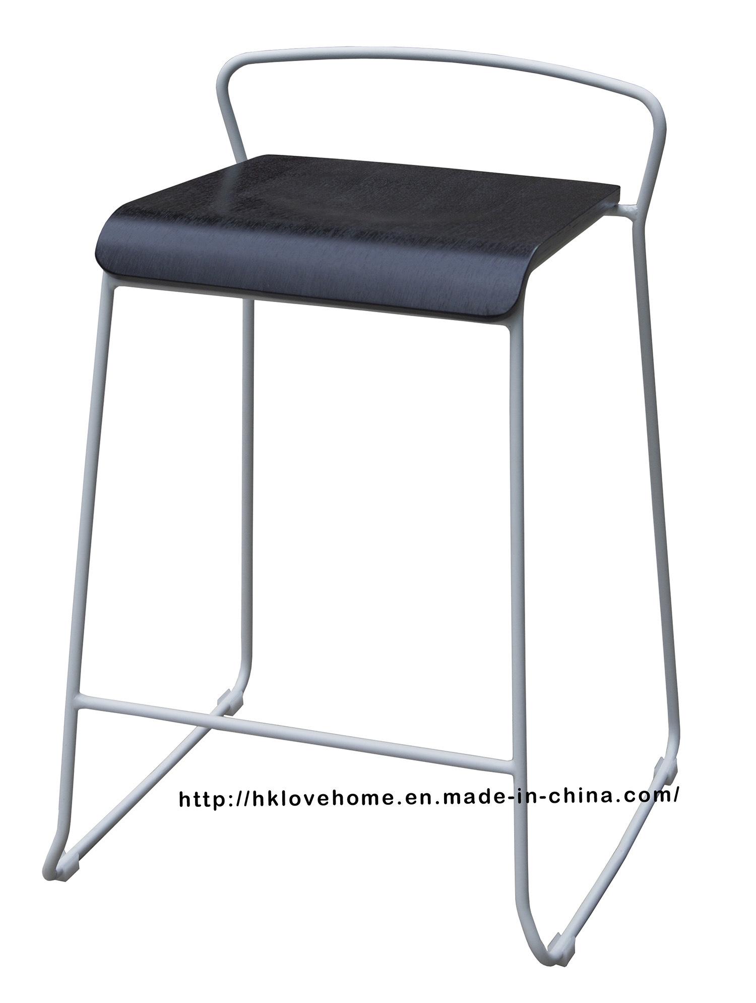 Modern Steel Furniture Wooden Counter Bar Stool