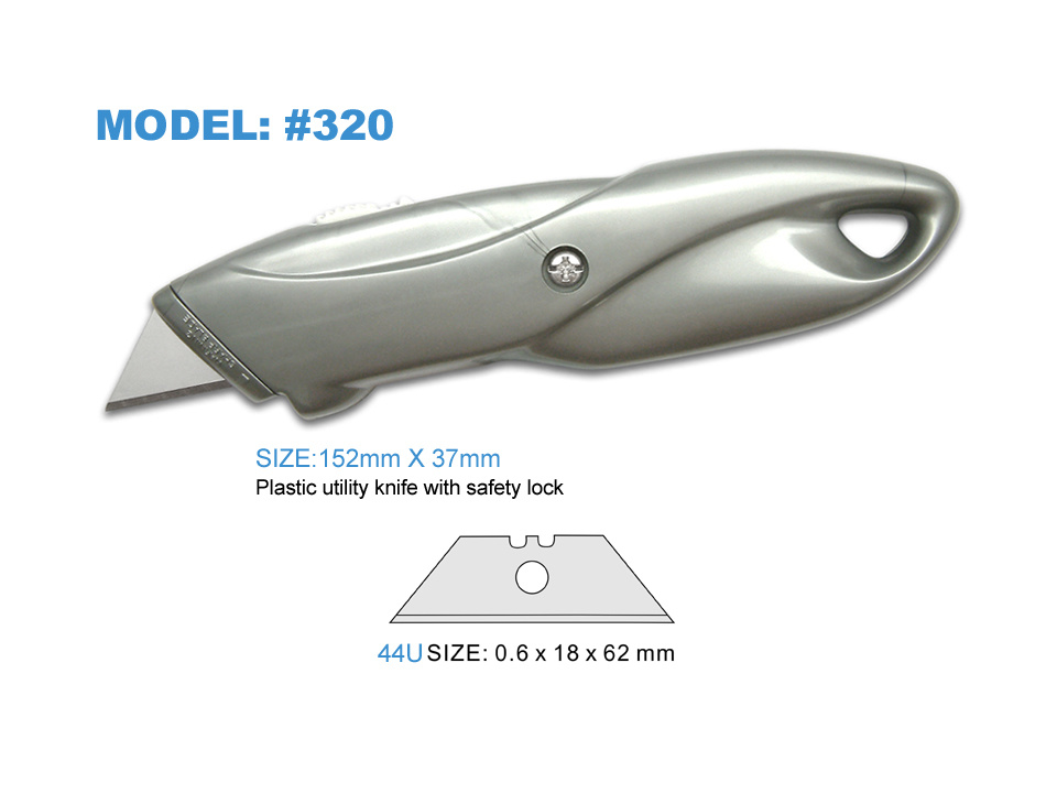Colorful Handle Safety Retractable Plastic Cutter Knife for Office Stationery