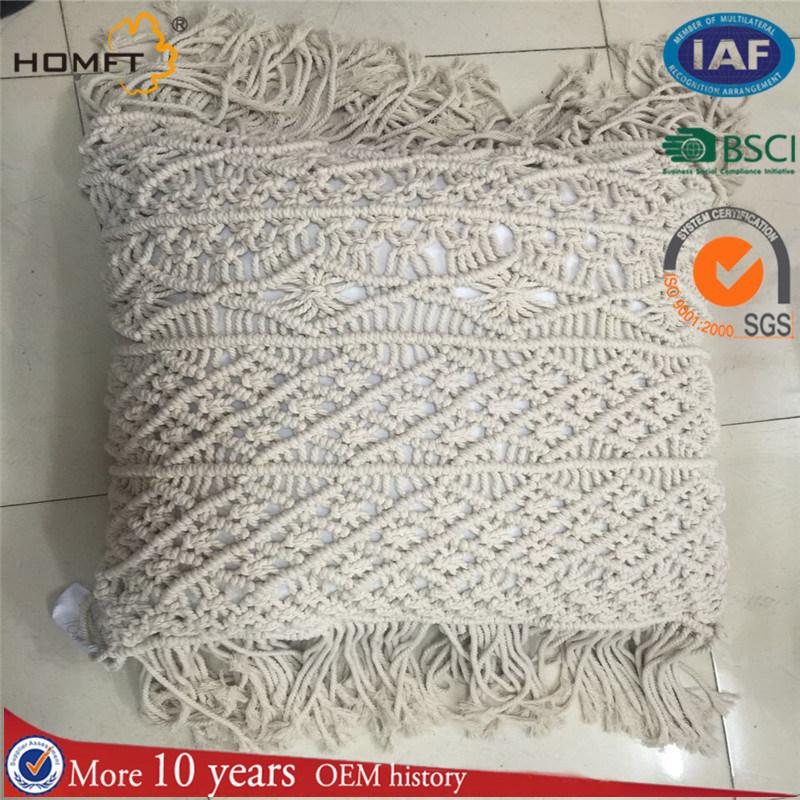 Handmade Soft Cotton Tassles Pillow