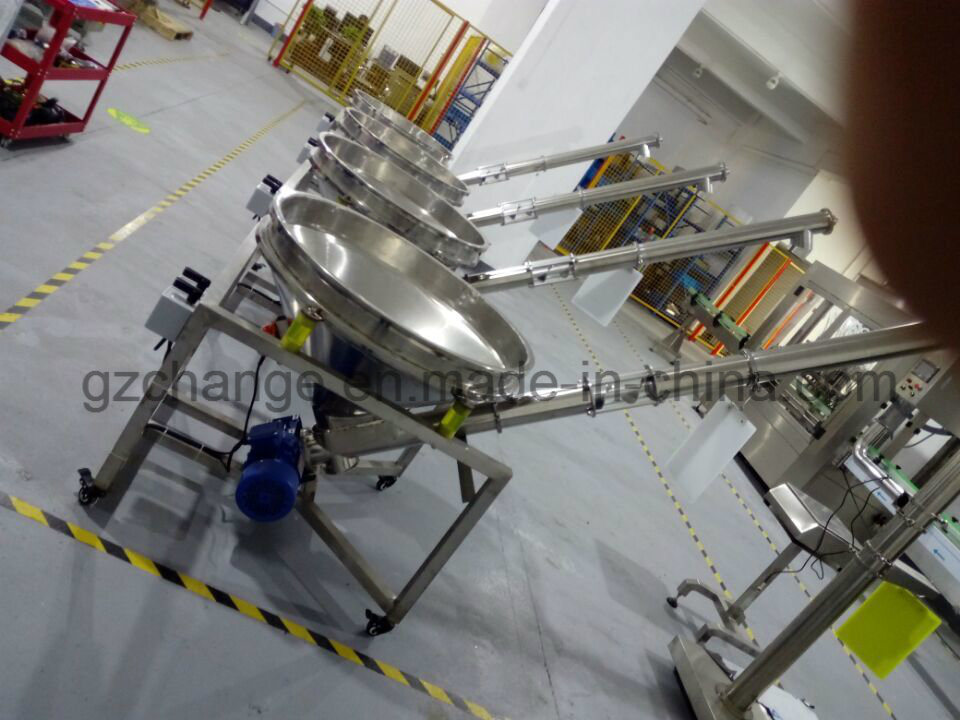 Auto Powder Filling Capping Labeling Machine for Soybean Milk Spice Powder