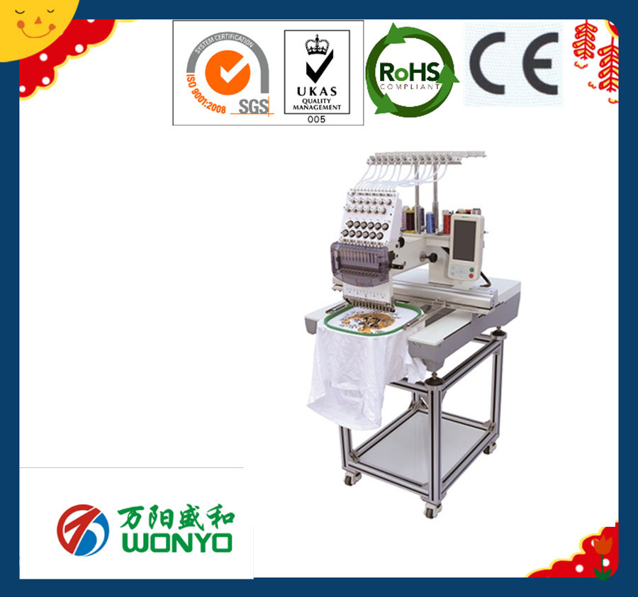 Wonyo One Head Computerised Flat Cap Embroidery Machine