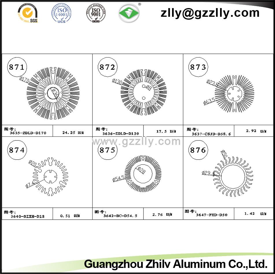 CNC Machine Extrusion Aluminium Cooler/Aluminum Alloy T3-T5