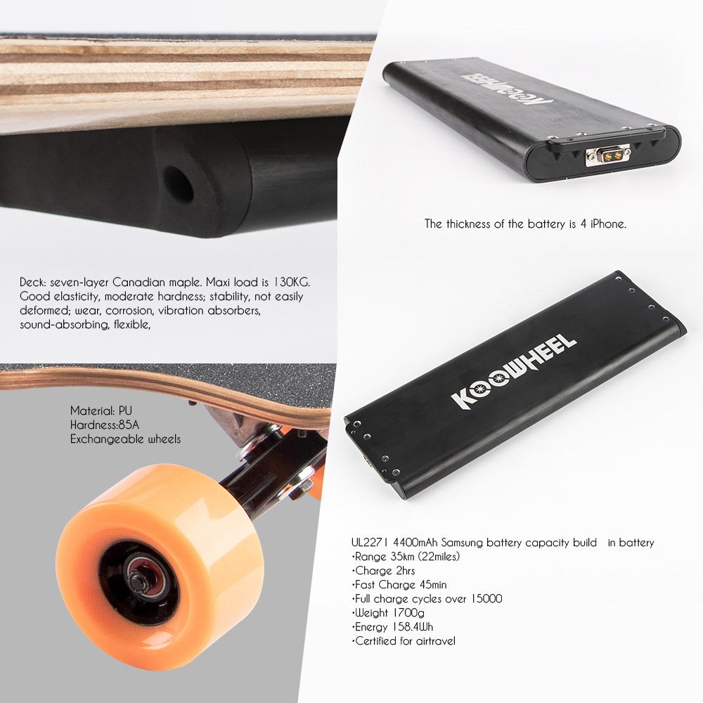 Germany USA Warehouse Koowheel Longboard Dual Motor Electric Skateboard
