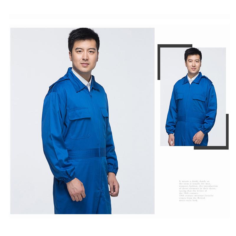 Men Winter 100% Cotton White Coveralls