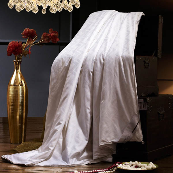 Jacquard Cotton 300tc Cover Infill Mulberry Silk Duvet Hotel