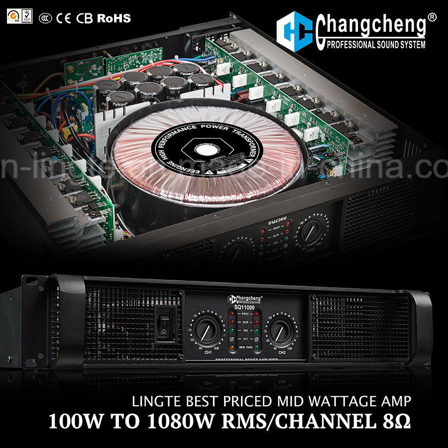 Sq Series Most Dominate Domestic MID Wattage Professional Power Amplifier