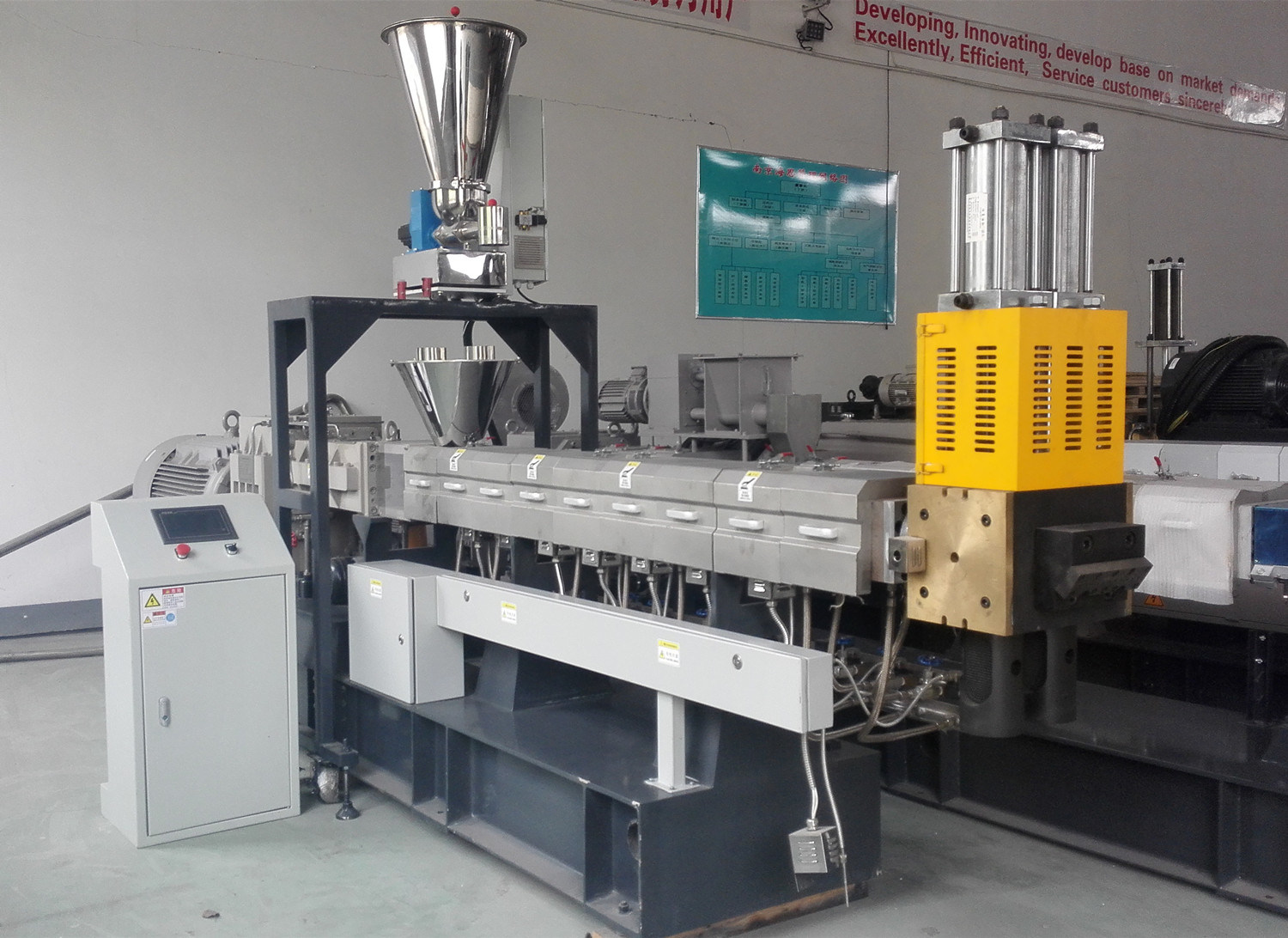 Plastic Nylon Fabric Making Machine of Double Screw Extruder in Plastic Extrusion