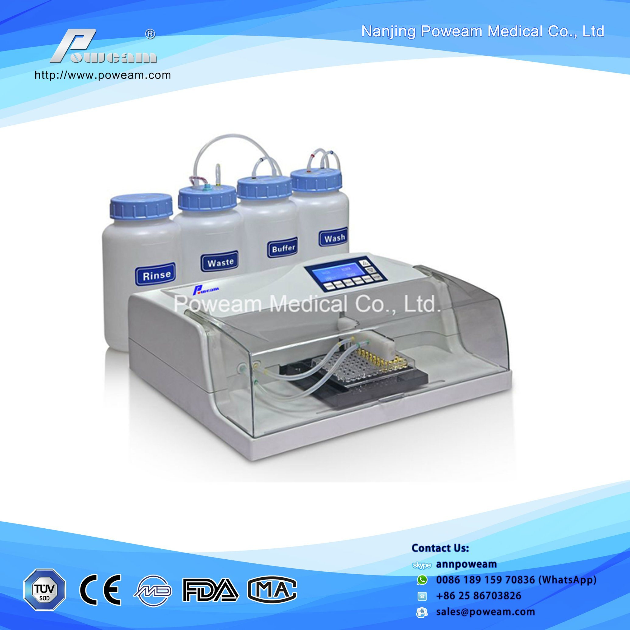 Diagnostic Elisa Microplate Washer with Ce (WHYM300)