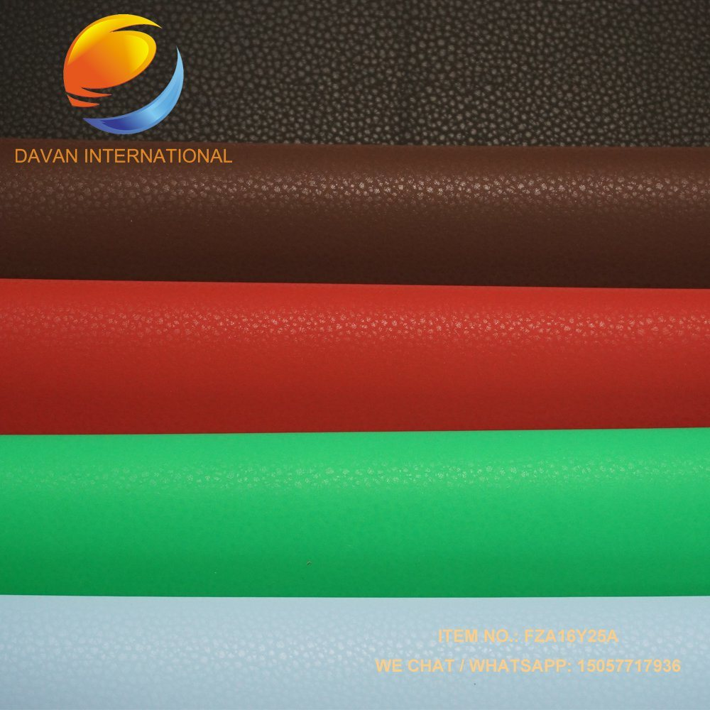 Synthetic Leather for PU Bag with Flocking Feeling Surface
