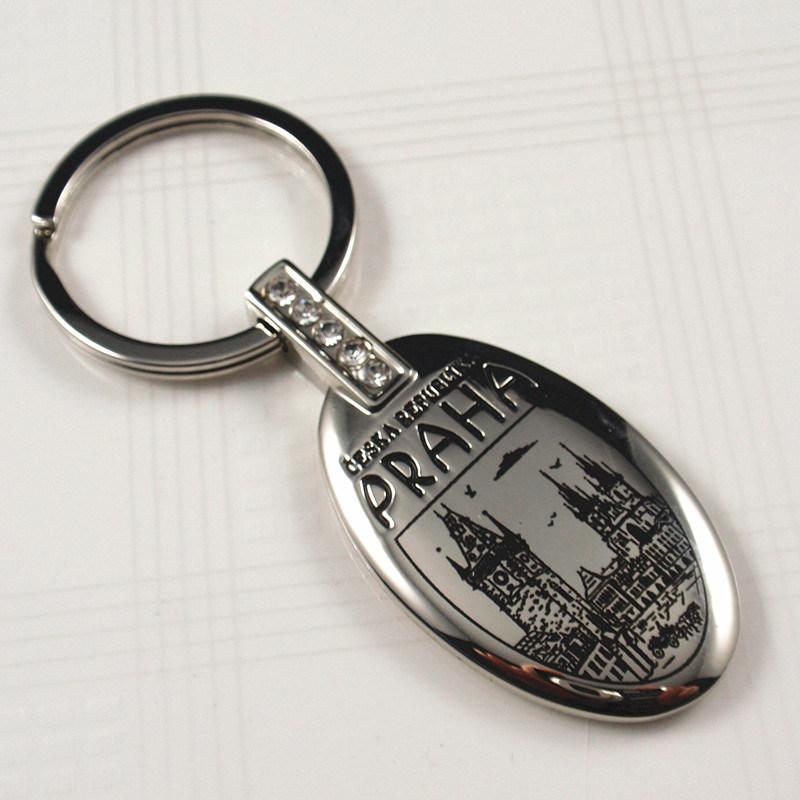 Souvenirs Gift Zinc Alloy Keychain with Praha Logo (KJ003)