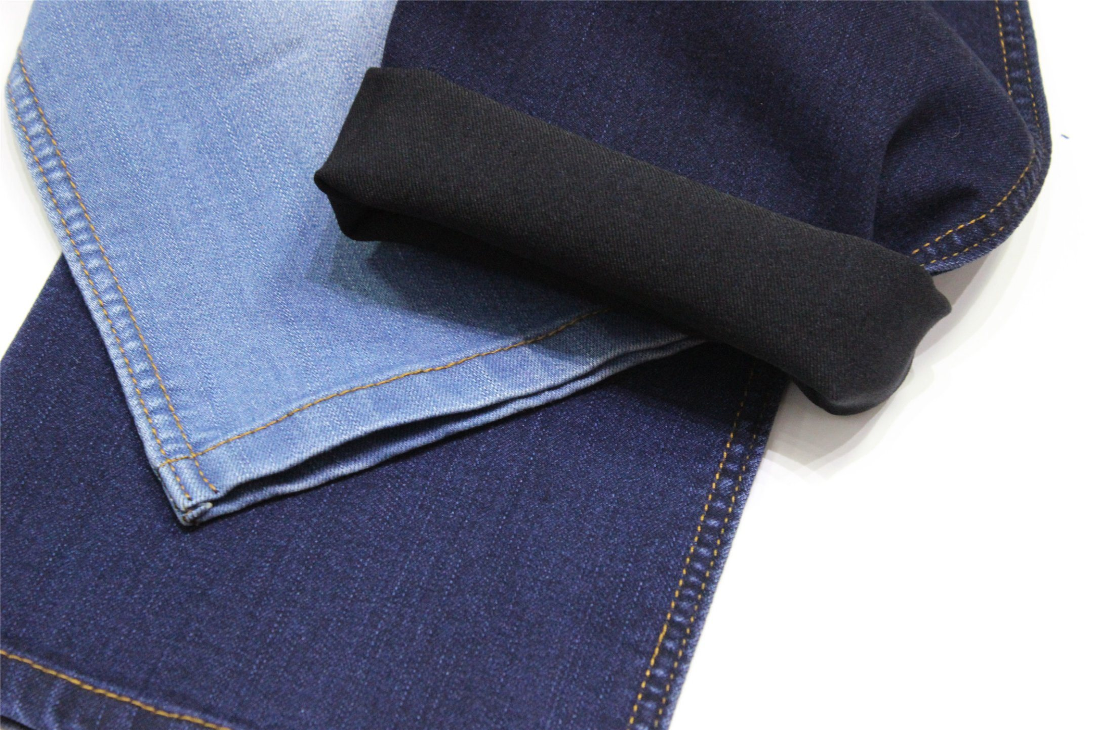 Cotton Polyester Rayon Spandex Indigo Denim